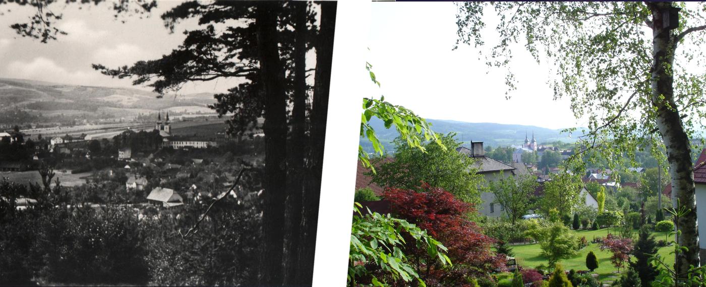 Dříve a nyní – pohled z Pohoře