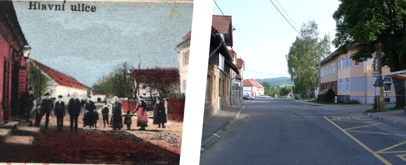 Dříve a nyní - Hlavní ulice